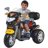 Mini Moto Elétrica 6v Sprint Custon Preta Capacete - Biemme