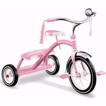 Triciclo Velocípede Infantil Bicicleta Radio Flyer Rosa + Nf