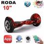 Hoverboard Skate Elétrico 10 Bluetooth Colorido Roda Grande