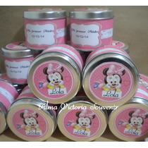 Latas Personalizadas Caramelera Souvenir Minnie Mouse