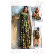 Vestido De Seda Y Encaje Cuatro Piezas Falda ,vestido ,chal