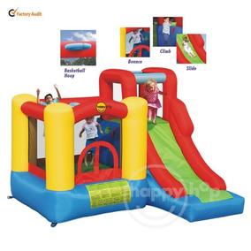 Castelo Pula Pula Inflável Happy Hop C/ Escorregador 110v