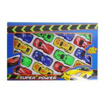 Carrinhos Fricção 16 Pçs Coloridos Brinquedo Carro Coleção