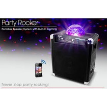 Caixa Som Ion Party Rocker Wifi E Show De Lazer Led 50w Rms