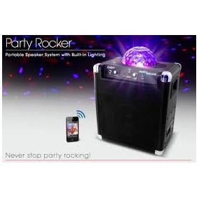 Caixa Som Ion Party Rocker Wifi E Show De Lazer Led 50w Rms