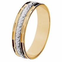 Aliança Noivado Abaulada Bodas Prata Ouro 18k - Gf15037