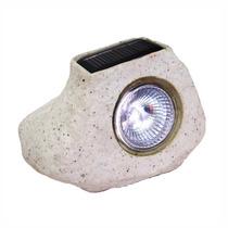 Luminaria Solar Retro Pedra De Jarmim Balizadora Decorativa