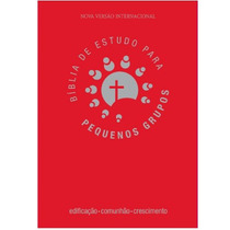 Bíblia De Estudo Para Pequenos Grupos - Luxo - Vermelha