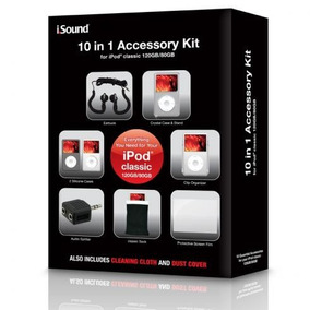 Kit Para Ipod Classic Paquete De Accesorios 10 En 1 - Isound
