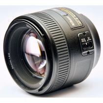 Nikon Af-s Fx Nikkor 85mm F/1.8g Lente Telefoto Nova