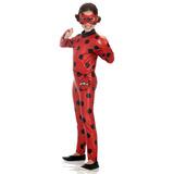 Fantasia Ladybug Infantil Roupa Miraculous Longa P M G