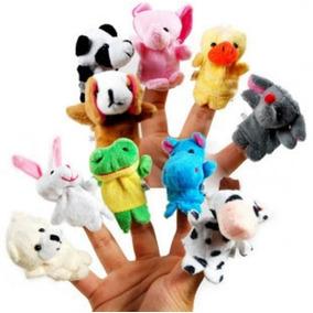 Fantoches Infantis Dedoches Brinquedos Educativos 10 Un