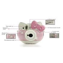 Funda Transparente Kitty Polaroid Fuji Film Instax Mini.