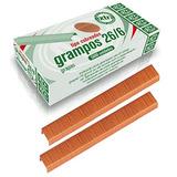 Grampos P/ Grampeador Acc Caixa C/5000 Cobreado 26/6