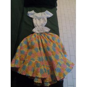 Disfraz De Llanera Talla 6 Como Nuevo.