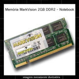 Memória Markvision 2gb Ddr2 800 Mhz - Notebook