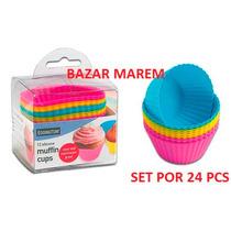 Molde Silicona Muffins Cupcake Individual Set X 24 Ø 7 Cm