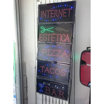Letrero Led Con Diversos Anuncios Internet, Tacos, Cafe, Bar