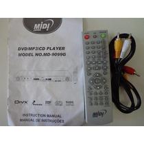 Controle Remoto Dvd Cd Player Md-9099 G + Manual + Cabo Novo
