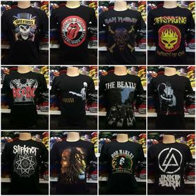 Lote Com 40 Camisetas Banda De Rock Atacado Revenda