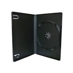 Estuches Dvd Negras De 7mm Simples X 50 Unidades