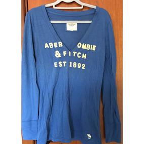Camisa Básica Abercrombie & Fitch Manga Longa Feminina