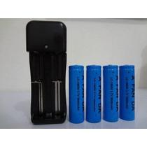 Kit Carregador Duplo+4 Baterias 18650 3,7v 6800mah Uitrafire