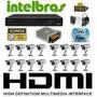 Kit Cftv 16 Cam 1200l Ccd Sony Dvr 16 Canais Intelbras Hd