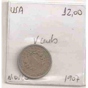 Ml-0031 - Moeda Dos Estados Unidos - V Cents. - 1907 - Mbc