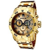 Relogio Invicta 0074 Pro Diver Original B. Ouro 18k Dourado