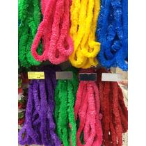 12 Collares Hawaianos Plástico Colores Surtido