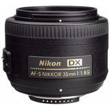 Lente Nikon Af-s 35mm 35 F/1.8g 1.8 G + Parasol + Funda