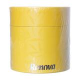 Lenço De Papel Facial Branco Em Caixa Decorada Na Cor Amarel