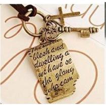 Collar De Moda Vintage Oro Viejo Bisuteria Fina