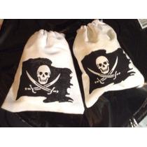 Piratas 100 Bolsas De Tela Para Dulces Artículos De Fiesta
