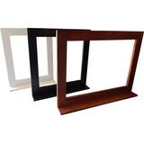Espejo Con Repisa Para Baño Wengue-blanco-algarrobo 0,50