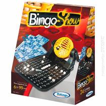 Jogo Bingo Show Com 24 Cartelas Dispenser 90 Pedras Xalingo