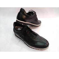 Zapatillas Urbana De 100% Cuero Vacuno Foot Notes Negro 1281