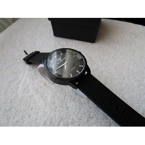 Moderno Reloj Emporio Armani Negro / Caucho Subasta 1 Peso