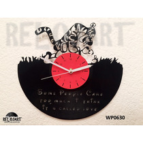 Original Reloj De Pared En Disco De Vinil - Winnie Pooh