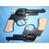 2 Revolver Plastico Juguete Eplax 38 Corto Ind Arg Años 70