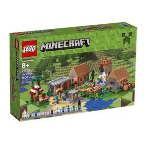Lego Minecraft The Village 1.600 Pecas 21128 Frete Gratis