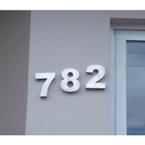 Numero Aço Inox Escovado 10cm Residencial Casa (letra Caixa)