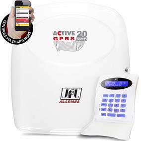 Central Alarme Monitorável Active 20 Gprs Jfl Teclado Lcd