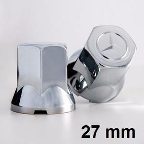 Capa De Porca Cromada Caminhão Mercedes Benz 27mm