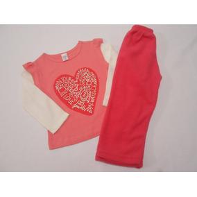 Conjunto Blusa Y Pantalon Polar Niña Termico 1 Año