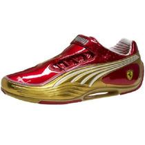Tenis Puma Sl Tech Ferrari Dorado Rojo Ironman Sneakers Rock