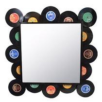 Espejo De Pared Con Marco Diseño Discos De Acetato De 76x2.5