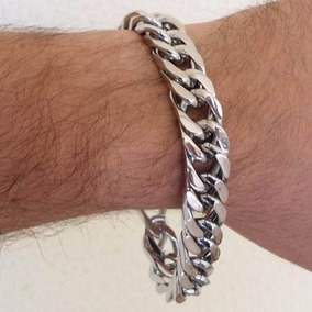 Bracelete Masculino Pulseira 20m Grumet Aço Cirurgico Grossa
