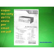Esquema Receiver Sony Str-11s Str11s Str11 Via Email 15,00